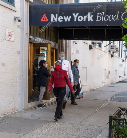 Editorial picture of Mayor de Blasio and First Lady donated blood, New York, United States - 21 May 2020