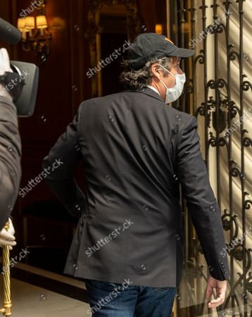 President Trump's former personal attorney Michael Cohen arrives at his Park Avenue home after being released from federal prison on furlough because of COVID-19 pandemic