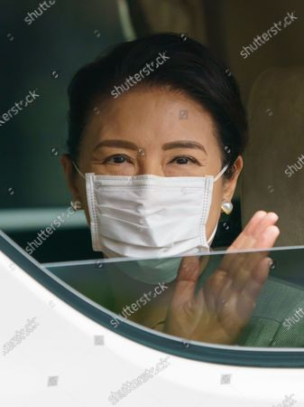 Editorial photo of Japanese Empress Masako at the Imperial Palace for Sericulture of Japanese Imperial traditional work, Tokyo, Japan - 22 May 2020