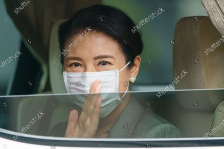Editorial picture of Japanese Empress Masako at the Imperial Palace for Sericulture of Japanese Imperial traditional work, Tokyo, Japan - 22 May 2020