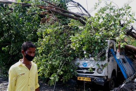 A damaged Kolkata City after Cyclone Amphan hit the region in Kolkata. At least 22 people died as the fiercest cyclone to hit parts of Bangladesh and eastern India this century sent trees flying and flattened houses, with millions crammed into shelters despite the risk of coronavirus.