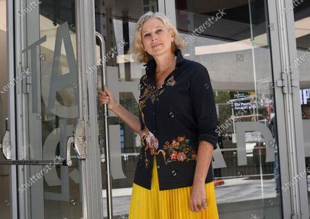 The Maxxi Foundation president Giovanna Melandri on the museum door opens symbolically to visitors