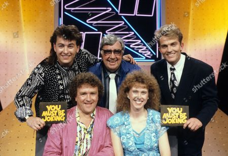 Stock Photo of Shane Ritchie, Ian Lees, Frank Carson, Pauline Hannah and Bradley Walsh in You Must be Joking.
