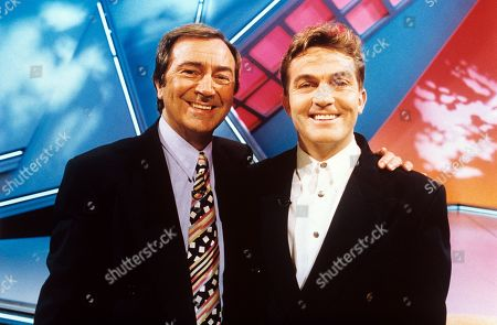 Stock Photo of Des O'Connor and Bradley Walsh on Des O'Connor Tonight.