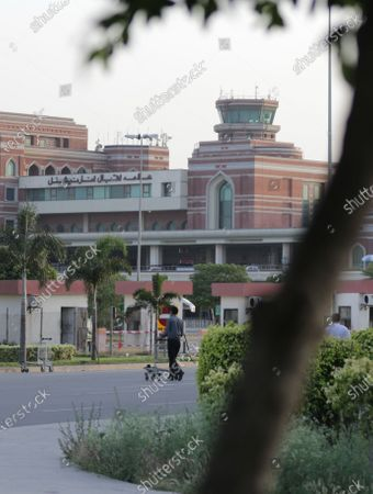 A general view of Allama Iqbal International Airport from where the flight PK8303 of the passenger plane of state run Pakistan International Airlines took off, in Lahore Pakistan, 22 May 2020. The Pakistan International Airlines passenger flight with over 100 people on board crashed on 22 May as it was about to land near a residential area close to the airport in the port city of Karachi, a civil aviation official said.