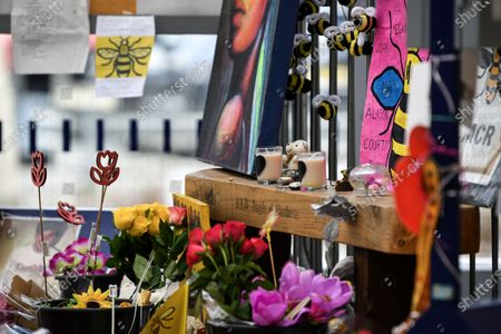 A memorial at Manchester's Victoria Station to remember the victims of the Arena terror attack, on this, the 3rd anniversary.
