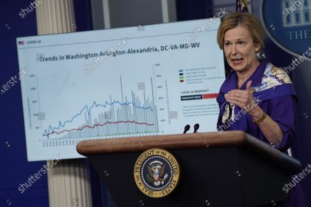 Deborah Birx, White House coronavirus response coordinator, speaks during a news conference in the Brady Press Briefing Room of the White House in Washington, DC, USA, on 22 May 2020.
