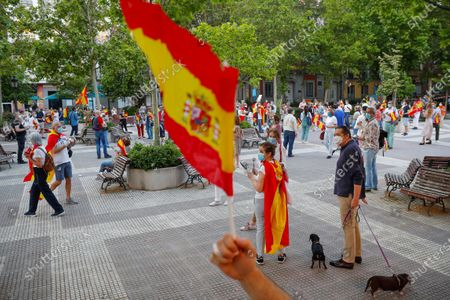 Editorial image of Protests against Spanish central government, Madrid, Spain - 22 May 2020