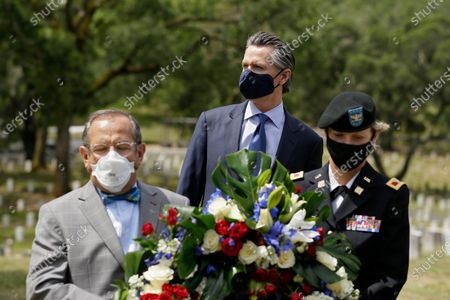 Editorial picture of California Governorn Gavin Newsom honors veterans, in Yountville, USA - 22 May 2020
