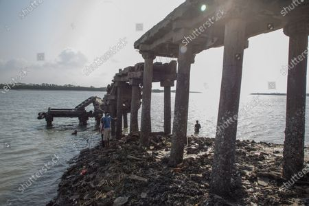 The main bridge of jetty of the jetty ghat of Sunderbans got broken in super cyclone Amphan.