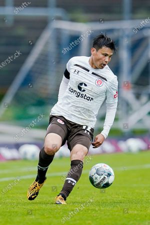 Stock Photo of St. Paulis Ryo Miyaichi in action during the German 2nd Bundesliga match between SV Darmstadt 98 vs FC St. Pauli in Darmstadt, Germany, 23 May 2020.