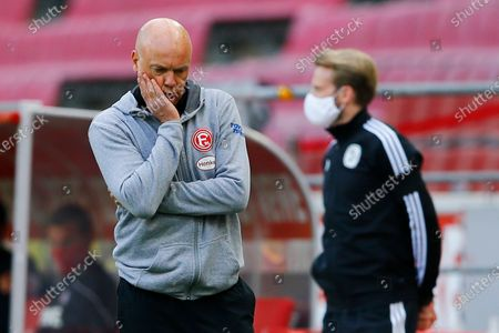 Stock Picture of Fortuna Dusseldorf coach Uwe Rosler reacts during the German Bundesliga soccer match between FC Cologne and Fortuna Dusseldorf in Cologne, Germany, 24 May 2020, as play resumes behind closed doors following the outbreak of the coronavirus disease (COVID-19).