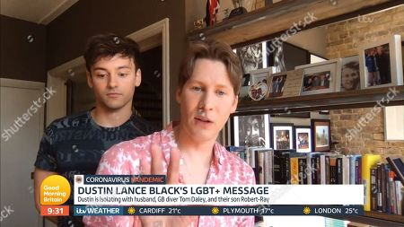Stock Picture of Tom Daley, Dustin Lance Black