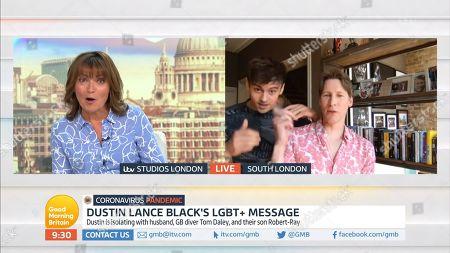 Lorraine Kelly, Tom Daley, Dustin Lance Black