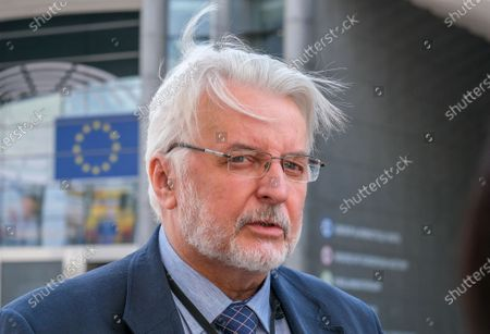 Member of the European Parliament from the Law and Justice (PiS) Party, former Polish foreign minister Witold Waszczykowski gives a press briefing ahead to a debate on determination of a clear risk of a serious breach by the Republic of Poland of the rule of law at European parliament committee on civil liberties, justice and home affairs in Brussels, Belgium 25 May 2020. Today Debate mark also the fourth anniversary of first claim at EU Parliament on rule of Law in Poland.