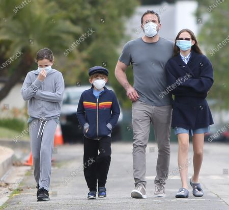 Editorial photo of Ben Affleck and family out and about Los Angeles, USA - 24 May 2020