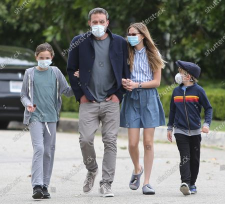 Editorial image of Ben Affleck and family out and about Los Angeles, USA - 24 May 2020