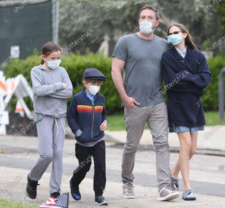 Ben Affleck, Violet Affleck, Seraphina Affleck and Samuel Affleck