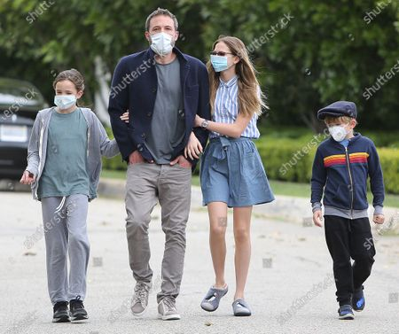 Editorial picture of Ben Affleck and family out and about Los Angeles, USA - 24 May 2020