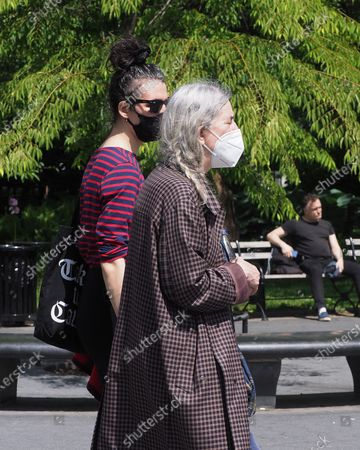 Musician, poet, and author Patti Smith in Washington Square Park on Memorial Day