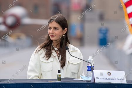 Michaela Kennedy-Cuomo attends the Intrepid Sea, Air & Space Museum's virtual Memorial Day ceremony in New York.