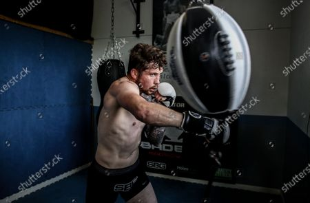 Stock Image of MMA fighter Brian Moore, who competes in the Bellator MMA promotion and trains with SBG Gym