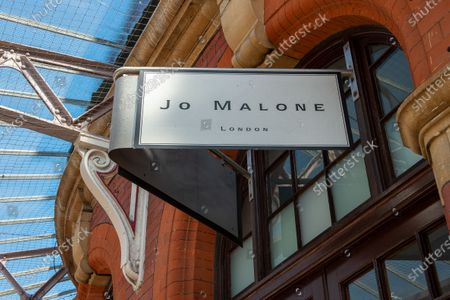 The Jo Malone perfume and scented candle shop in Windsor, Berkshire remains temporarily closed during the Coronavirus Covid-19 Pandemic lockdown