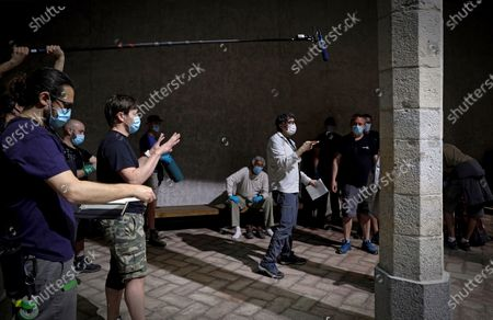 Editorial photo of Filming of a series in Pamplona, Spain - 26 May 2020