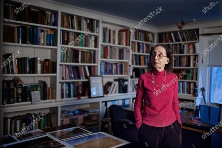 Stock Image of Portrait of American author Joyce Carol Oates at home