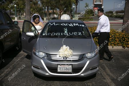Editorial image of Virus Outbreak California Pop Up Weddings, Anaheim, United States - 26 May 2020
