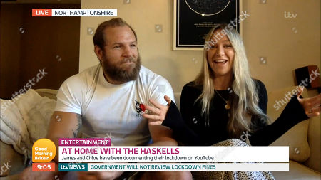 Stock Photo of James Haskell and Chloe Madeley