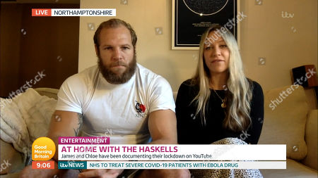 Stock Image of James Haskell and Chloe Madeley