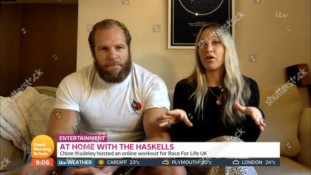 Stock Picture of James Haskell and Chloe Madeley
