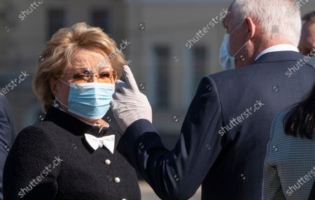 Editorial picture of Virus Outbreak Russia Anniversary, st.petersburg, Russian Federation - 27 May 2020