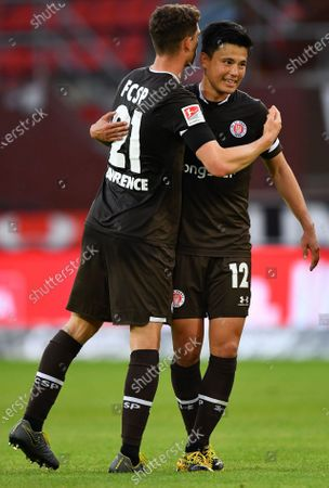 Editorial photo of FC St. Pauli vs 1. FC Heidenheim 1846, Hamburg, Germany - 27 May 2020