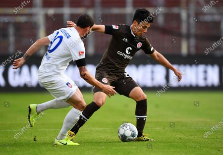 Editorial image of FC St. Pauli vs 1. FC Heidenheim 1846, Hamburg, Germany - 27 May 2020