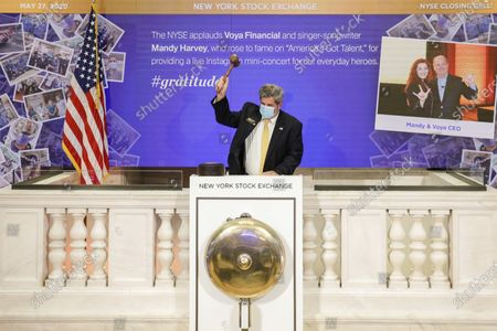 Editorial picture of Stock Exchange Gratitude Campaign, New York, United States - 27 May 2020