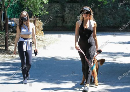 Stock Image of Natasha Alam and Anna Walt are seen out and about