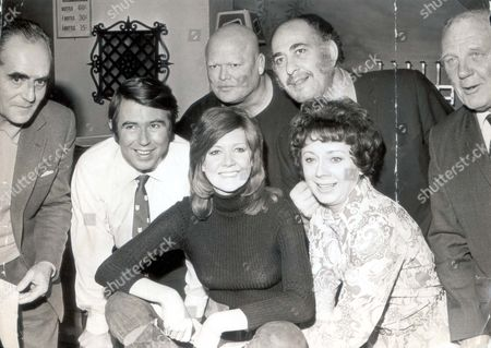 Cilla Black L To R: Tom Chatto Leslie Crowther Cilla Black Milton Reid Sheila Bernette Alfred Monks And Bertie Hae. ...singer