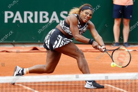 Serena Williams of the U.S. plays a shot against Vitalia Diatchenko of Russia during their first round match of the French Open tennis tournament at the Roland Garros stadium in Paris. If the French Open were being held as scheduled right now -- instead of postponed to September because of the coronavirus pandemic, Williams again would have had a shot at her 24th major to pull even with Margaret Court for the most in history