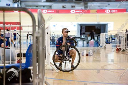 Stock Image of Track Sprinter Jason Kenny pictured as Great Britain Cycling Team riders are resuming training as facilities at the National Cycling Centre have been adapted to allow social distancing and to mitigate any risk of infection during the coronavirus pandemic.