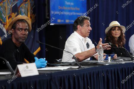 Chris Rock, Governoe Andrew Cuomo and Rosie Perez