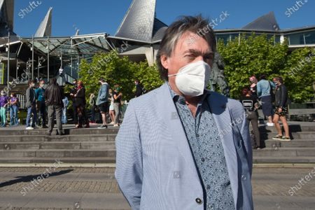 GAIA chairman Michel Vandenbosch arrives for a session of the Antwerp court of First Instance, where the Federal Agency for the Safety of the Food Chain (FAVV AFSCA) is demanding a cat brought from Peru to be euthanised due to the risk of spreading rabies, Friday 29 May 2020.