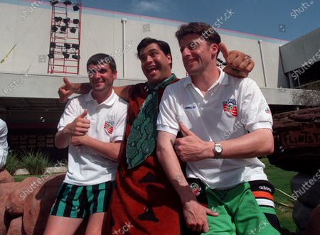 Stock Image of World Cup 1994. Roy Keane and Andy Townsend of the Republic of Ireland at Universal Studios in Orlando