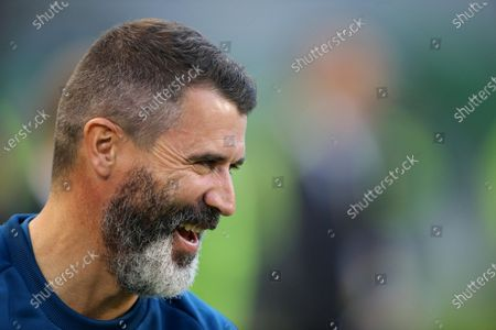Three International Friendly, Aviva Stadium, Dublin 3/9/2014. Republic of Ireland vs Oman. Ireland assistant manager Roy Keane
