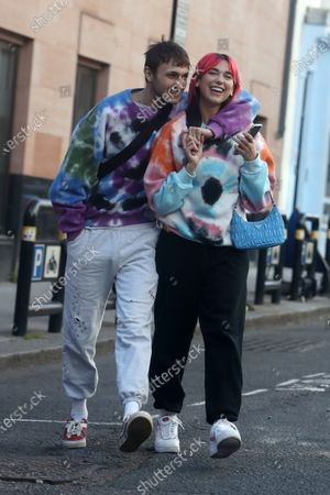 Exclusive - Dua Lipa and Anwar Hadid out and about, London