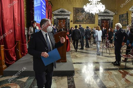 Ignazio Visco, governor of the Central Bank of Italy 'Banca d'Italia', during the presentation of the Annual Report in Rome, Italy, 29 May 2020.