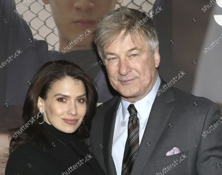 "Hilaria Baldwin, left, and Alec Baldwin attend the Broadway opening night of ""West Side Story"" in New York. Alec Baldwin returns as host of the game show ""Match Game,"" Sunday on ABC"