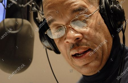 "Radio host Jose Masso introduces a song during the bilingual ""Con Salsa!"" radio show on WBUR 90.9 FM in Boston. Masso, 69, and Califoria Dj Art Laboe, 94, are using their shows that are popular among Latinos to help bridge the isolation felt with the novel coronavirus and anxieties around national unrest"