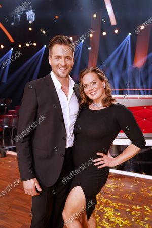Stock Picture of Nadja and Alexander Klaws.